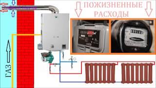 Газовое отопление лишние расходы / Отопление - убытки / Газовый котел  тратит электричество(, 2015-02-07T18:54:55.000Z)