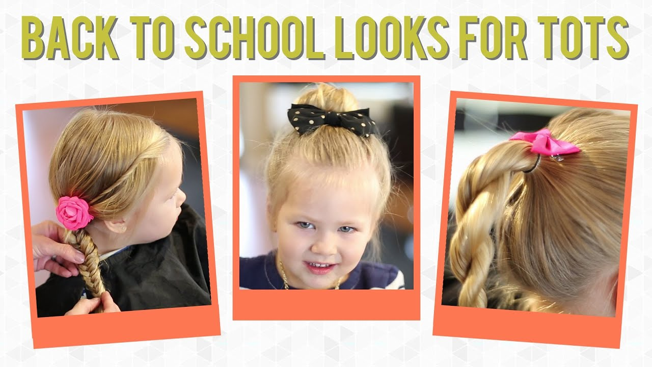 3 easy back to school hairstyles for toddlers - youtube