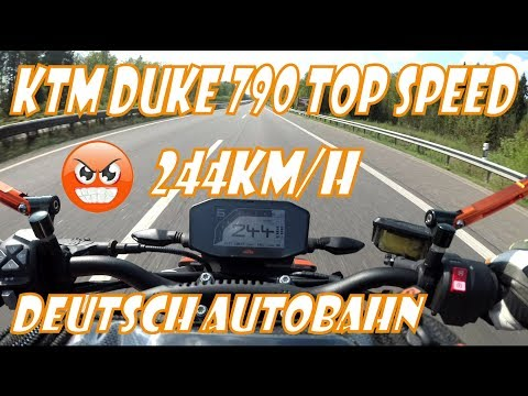 KTM Duke 790 Top Speed - deutsch autobahn