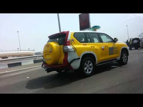 Abu dhabi / dubai (truck accident on main road)