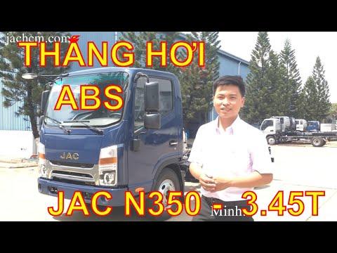 """ĐỘNG CƠ CN CUMIN MỸ ✅ JAC N350 - 3.45 TẤN, """"THẮNG ABS"""", KHÓA ĐIỆN"""