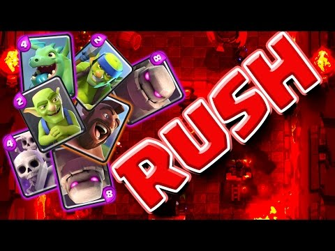 NEW STRATEGY  ::  Clash Royale  ::  RUSH THE ENEMY!