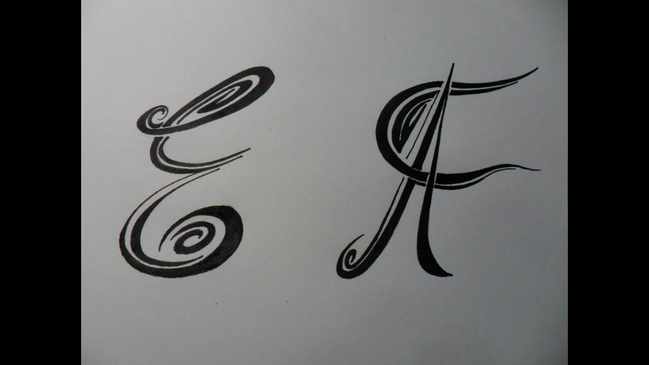 letras tribales e y f bases elementales para dibujar