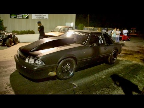 WHAT A CLOSE RACE! BIG BLOCK MUSTANG GRUDGE BATTLE AT MIKE HILL'S BADDEST OF THE BAD!!!