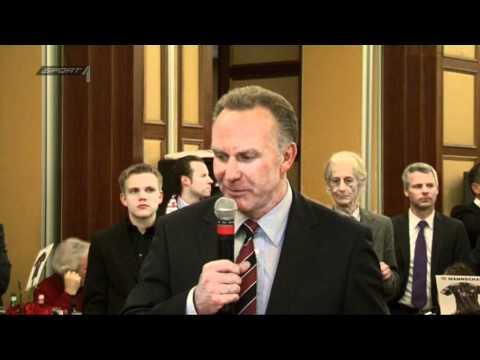 Bankettrede: Rummenigge warnt vor Euphorie