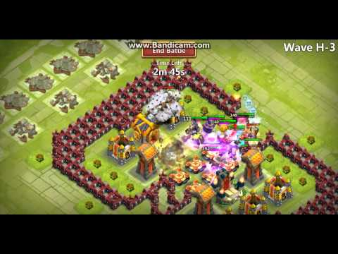 Castle Clash Town Hall Lv 17 And 18 Wave H Base!