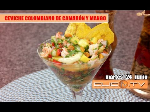 CEVICHE COLOMBIANO DE CAMARÓN Y MANGO