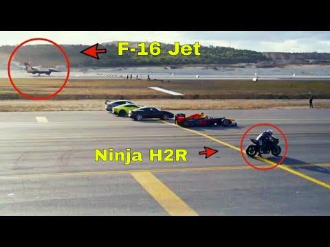 The Ultimate Race Ninja H2R Vs Jet planes & Super Cars