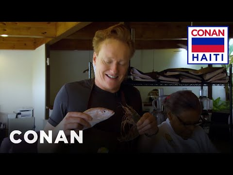 Conan Learns To Cook At The World Central Kitchen  - CONAN On TBS