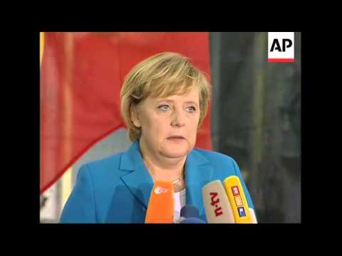 Merkel meets marines who will go to Lebanon; comments on Iran