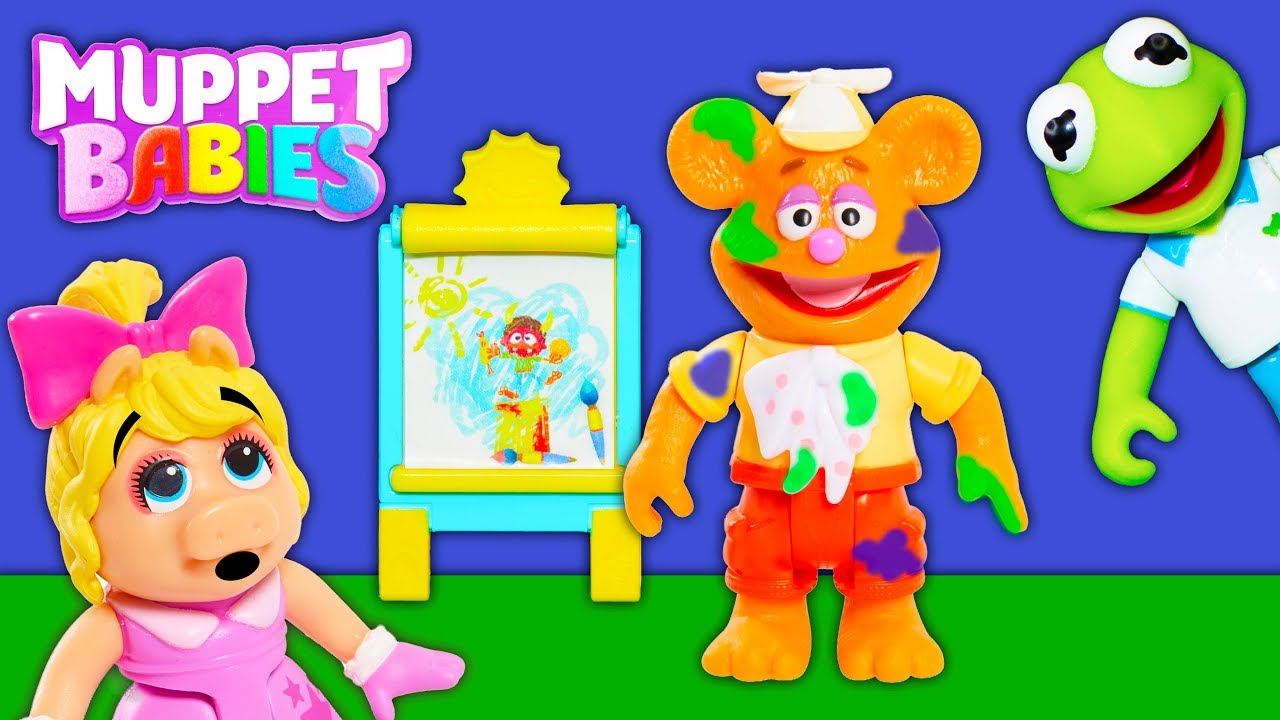 muppet-babies-kermit-and-miss-piggy-and-summer-and-fozzie-paint-fun-surprise