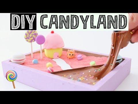 MAKING DIY MINI CANDY LAND ZEN GARDEN - Stress Relieving Slime Desk Decor!