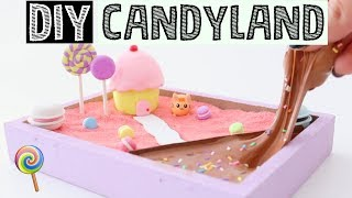 MAKING DIY MINI CANDY LAND ZEN GARDEN - Stress Relieving Slime Desk Decor!