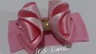 Como fazer laço com fita de cetim DIY por Iris Lima
