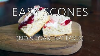 Easy scones - no sugar, no eggs