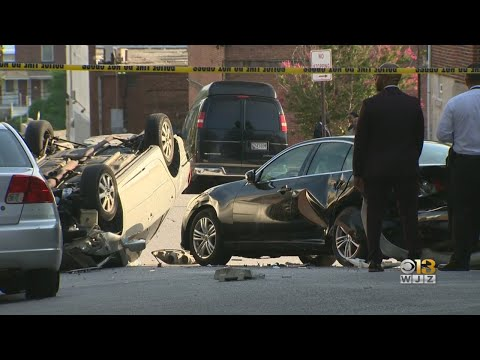Driver Injured After Fleeing Gunshots In Northeast Baltimore