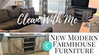 Assembling MODERN FARMHOUSE furniture | Clean My Family Room With Me