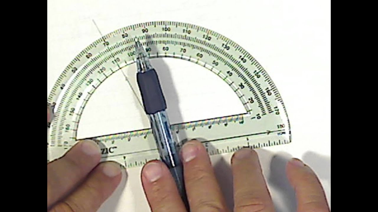How to use a protractor - YouTube