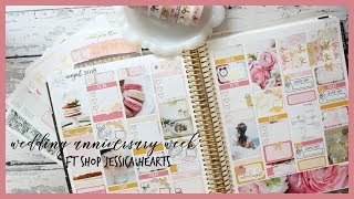 PLAN WITH ME ll WEDDING ANNIVERSARY WEEK ll FT SHOP JESSICA HEARTS