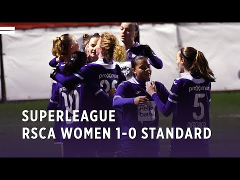 Superleague : RSCA Women 1-0 Standard de Liège