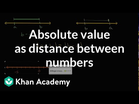 Absolute value as distance between numbers   7th grade   Khan Academy