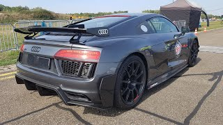 2018 Audi R8 V10 Plus PERFORMANCE Parts - REVS & DRAG RACING!