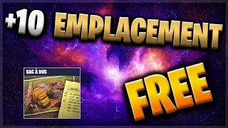 10 SAC EMPLACEMENTS A DOS FREE - FORTNITE SAUVER THE WORLD