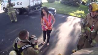 Firefighter Proposal Best Engagement Ever Will You Marry Me - Wedding Proposal