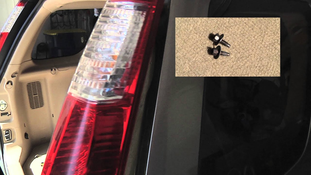 honda cr  tail light bulb replacement easy  minute video youtube