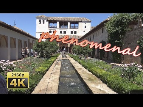 Alhambra in Granada, Andalusia - Spain 4K Travel Channel