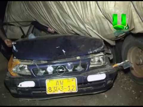Accident: Tipper Truck Veers Off Road and Lands On Taxi Cab