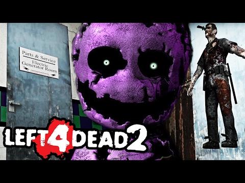 THE PURPLE MANS SECRET OFFICE || Left 4 Dead 2 FNAF 2 MOD w/Dawko (Five Nights at Freddys)