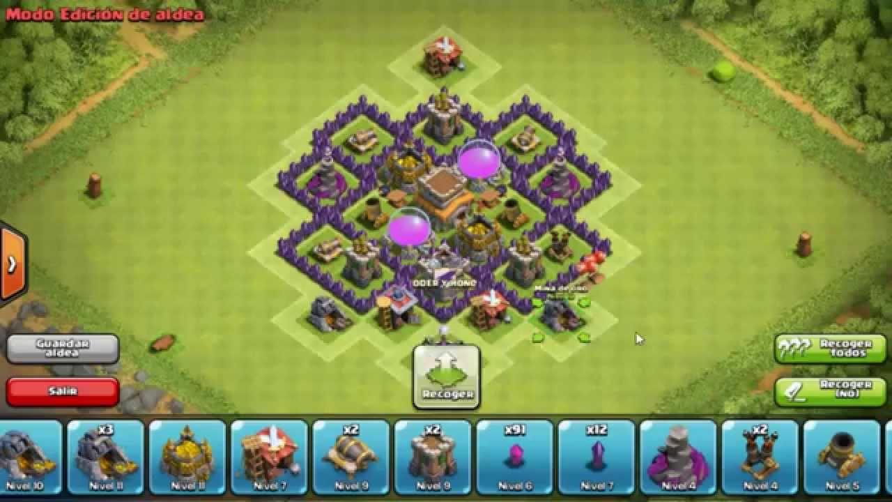 dise o de aldea defensiva th6 clash of clans youtube