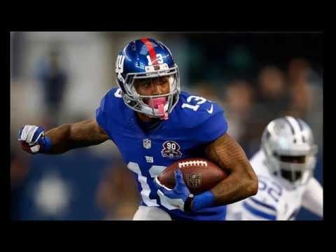 Odell Beckham Jr Giants Receiver Giants Stadium New Jersey
