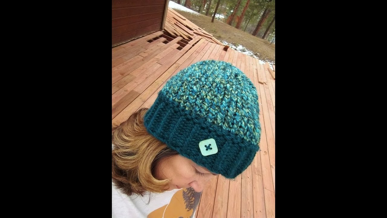 Loom Knit Kwik & Kozy 2 Hour Beanie Tutorial - Great Chemo Cap - YouTube