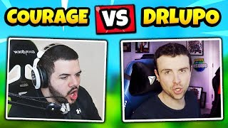 COURAGE Vs DRLUPO Dans un match public (les deux POV - Réactions) Fortnite Daily Funny Moments Ep.270