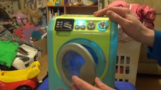 Review and demonstration of Chad valley toy washing machine and dishwasher