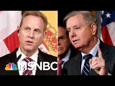 Patrick Shanahan, Lindsey Graham Spar Over Troops Withdrawal From Syria | Velshi & Ruhle | MSNBC