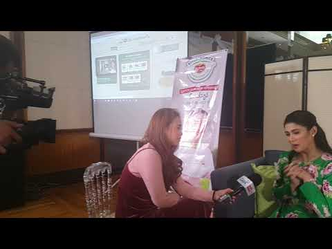 Carla Abellana being interviewed by GMA News at Del Monte Kitchenomics event