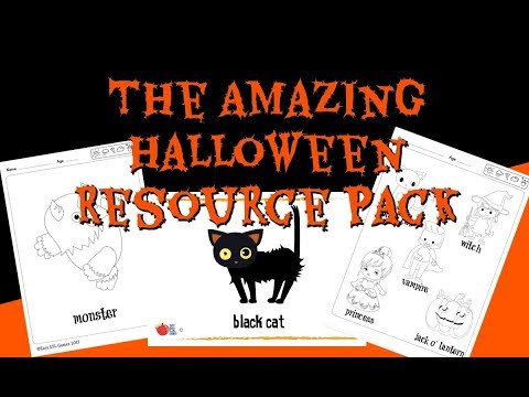 The Amazing Halloween Resource Pack (with songs and activities) |  Easy ESL Games