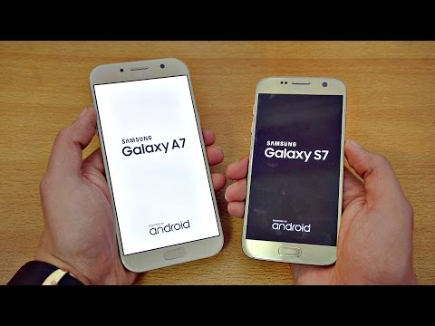 Samsung Galaxy A7 (2017) vs Galaxy S7 - Speed Test! (4K)
