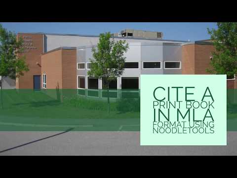 How to cite a print book in MLA format using NoodleTools