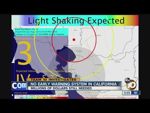No early warning system for earthquakes in California
