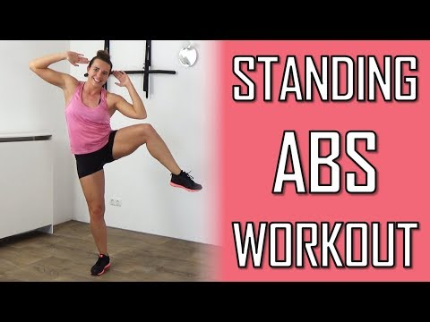 Standing Ab Workout at Home – 20 Minute Standing Ab Exercises To Lose Belly Fat – No Equipment