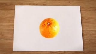 Como desenhar uma laranja : Como desenhar frutas