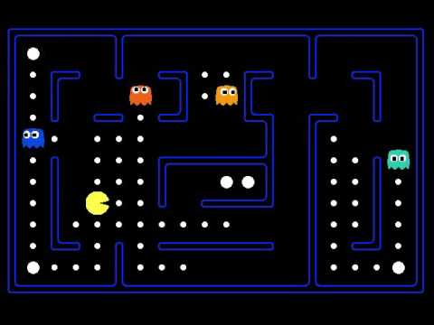 Neural network learns to play pacman