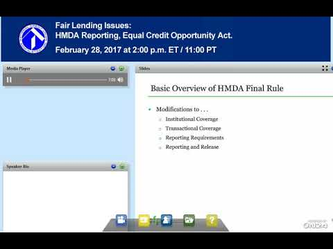 HMDA Reporting, Equal Credit Opportunity Act 2/28/2017