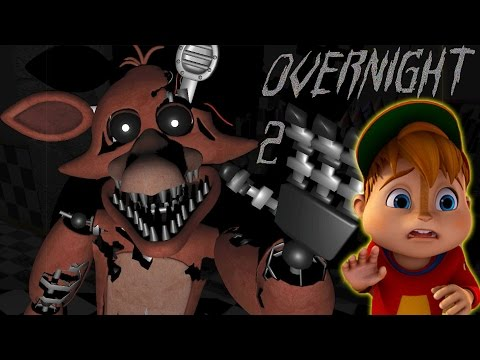 FOXY VICIOUSLY ATTACKED A CHIPMUNK!! | Overnight 2: Reboot Night 3 COMPLETED BABYYY!!