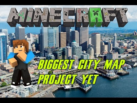 Minecraft Ps4 : Building Seattle City 1:1 | Biggest Project yet!