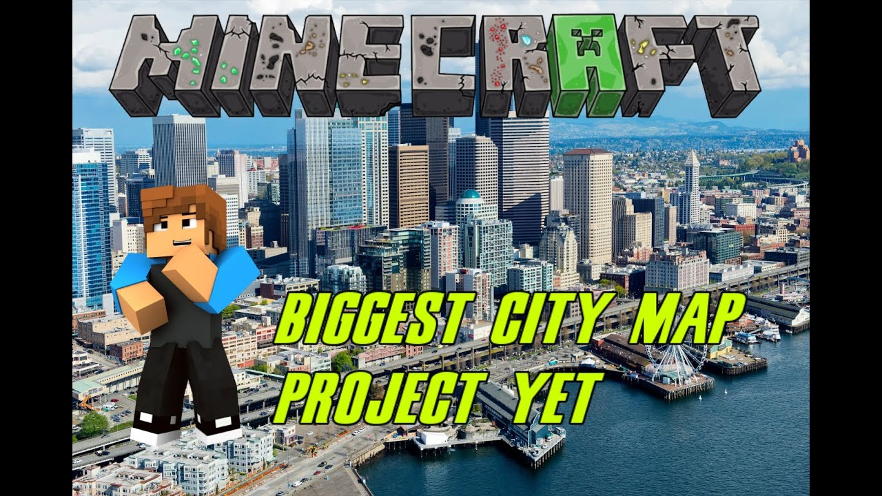 Minecraft Ps4 Building Seattle City 11 Biggest Project yet